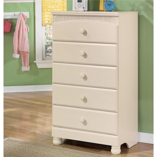 Signature Design by Ashley Cottage Retreat 5 Drawer Chest