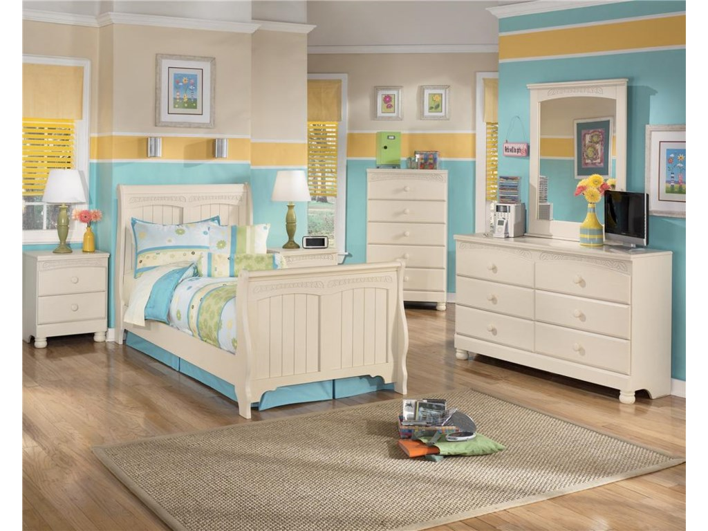 Shown with Nightstand, Dresser, Mirror & Chest