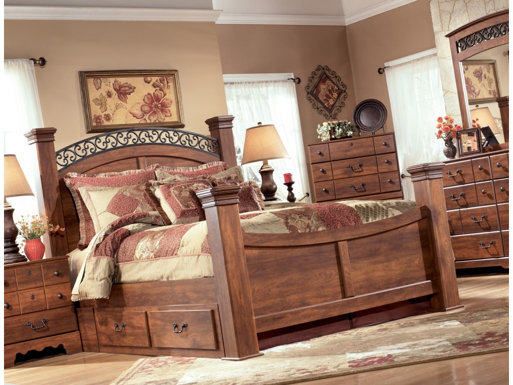 Signature Design by Ashley TimberlineQueen Poster Bed with Storage