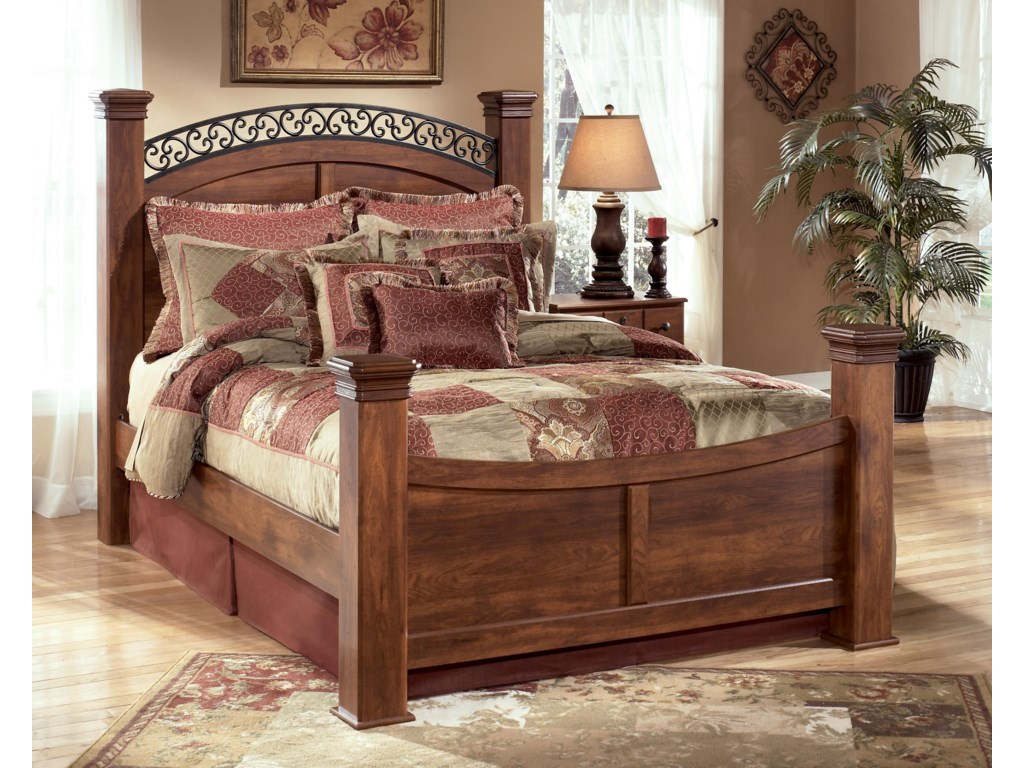 Ashley Signature Design TimberlineQueen Poster Bed