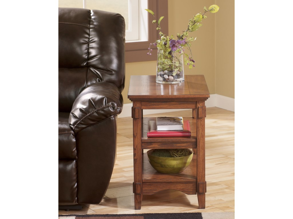 Signature Cross IslandChairside End Table w/ Shelves