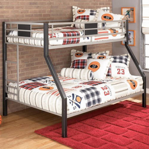 Signature Design By Ashley Darren Twin Over Full Metal Bunk Bed