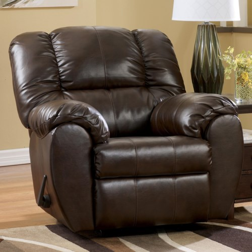 Amazing Signature Design by Ashley Dylan DuraBlend Espresso Bonded Leather Match Rocker Recliner Beautiful - Popular durablend leather sofa Picture
