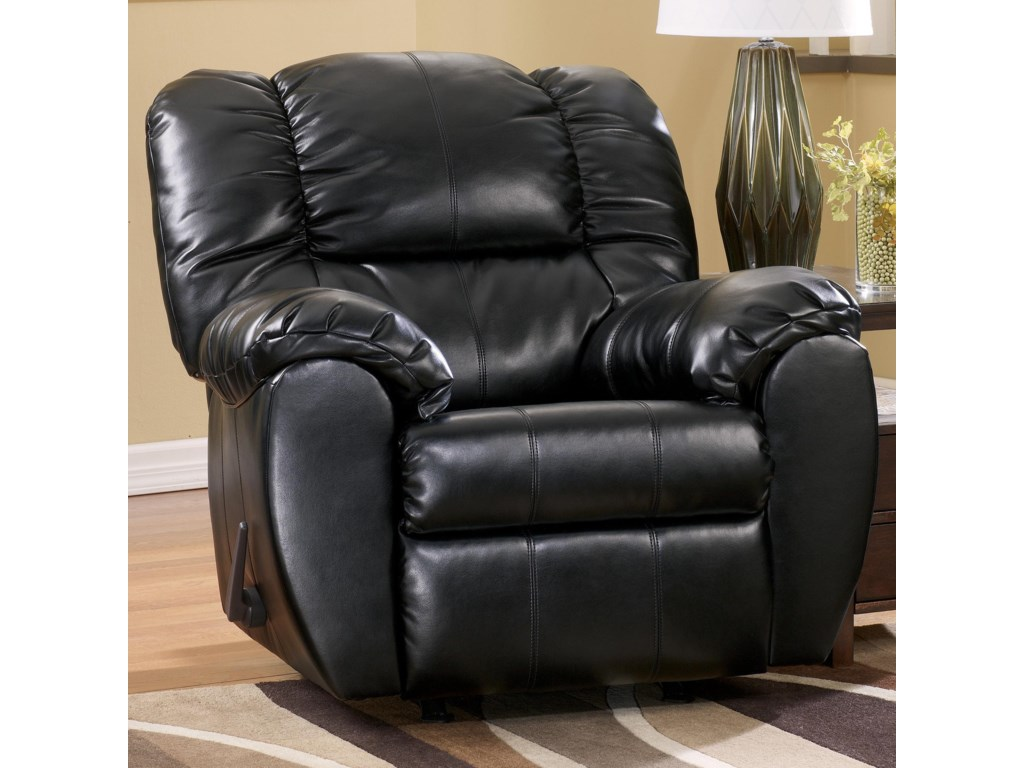 Signature Design by Ashley Dylan DuraBlend - OnyxRocker Recliner