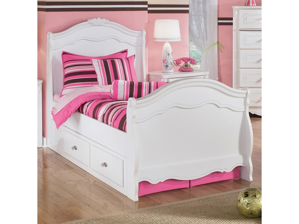 Signature Design by Ashley ExquisiteTwin Sleigh Bed with Under Bed Storage
