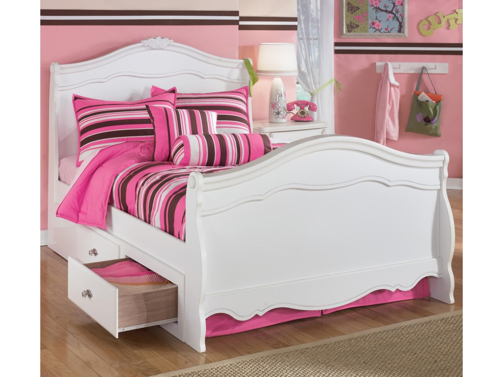 Signature Design by Ashley ExquisiteFull Sleigh Bed with Under Bed Storage