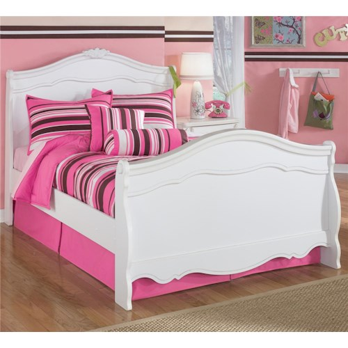 Signature Design by Ashley Exquisite Full Sleigh Bed with Decorative Shaped Moldings