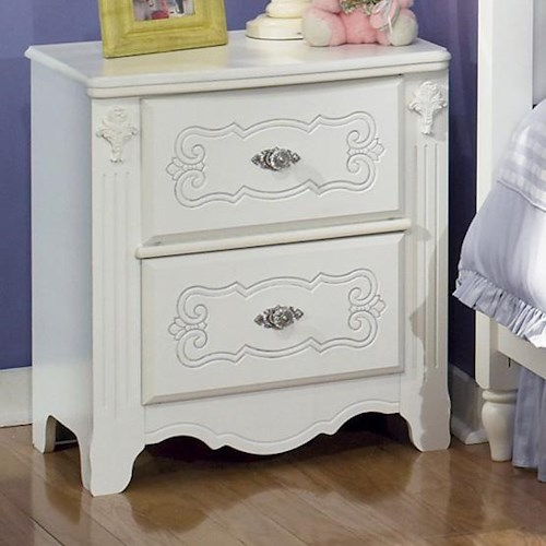 Signature Design by Ashley Exquisite 2 Drawer Nightstand