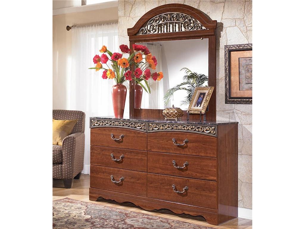 Signature Fairbrooks EstateDresser & Mirror
