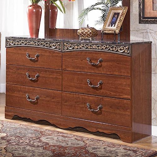 Signature Design by Ashley Fairbrooks Estate 6 Drawer Dresser