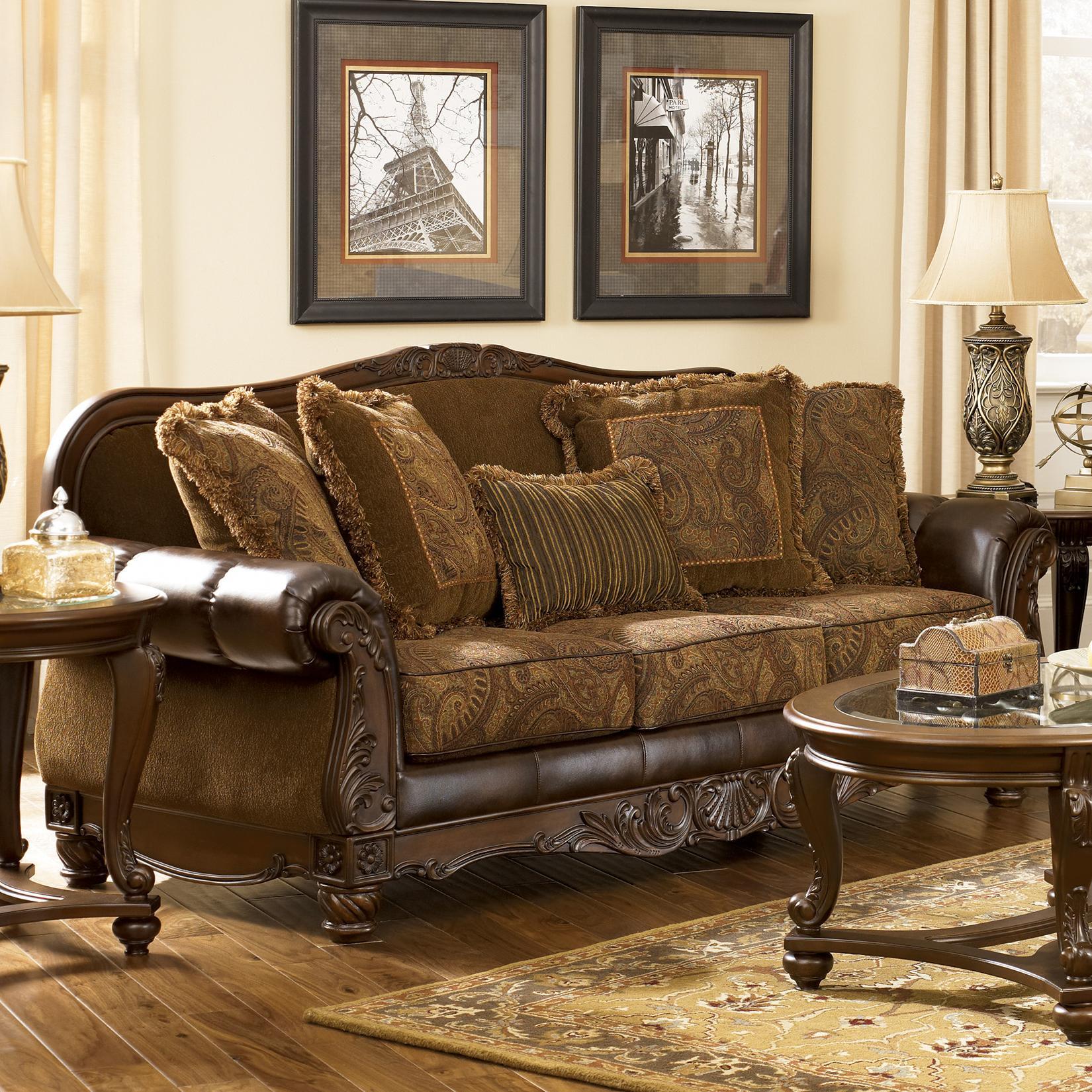 signature design by ashley fresco durablend antique 6310038 rh furnitureappliancemart com ashley fresco durablend antique sofa