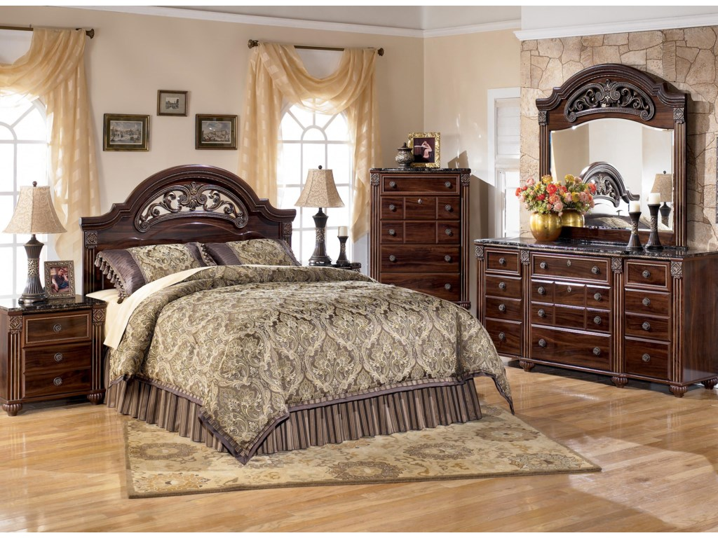 Shown with Night Stand, Queen/Full Panel Headboard, Chest and Dresser