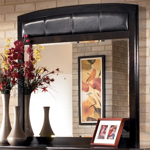 Signature Design by Ashley Harmony Mirror with Faux Leather