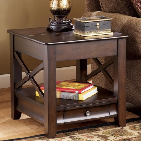 Square Storage End Table