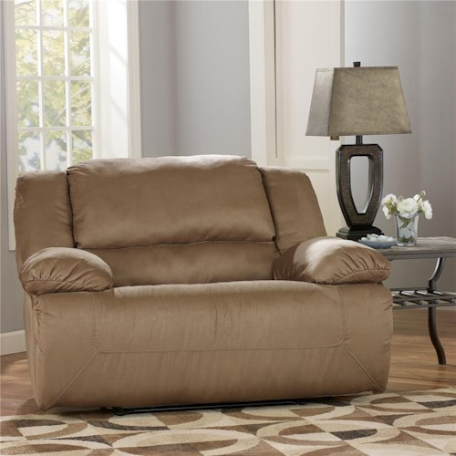 Signature Design by Ashley Hogan - Mocha Zero Wall Recliner with Wide Seat Box