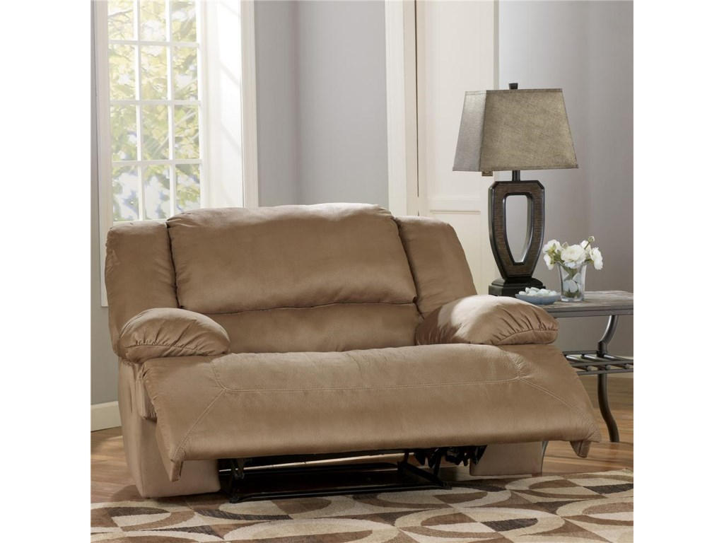 Signature Design by Ashley Hogan - MochaZero Wall Recliner with Wide Seat Box