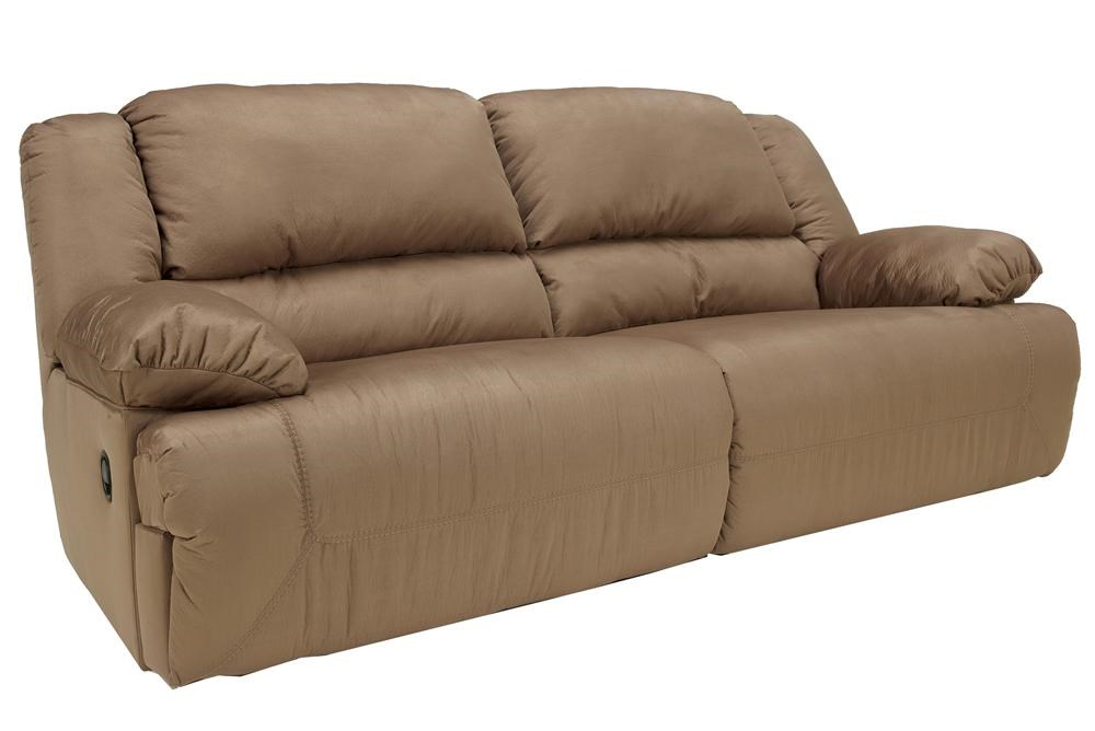 Signature Design By Ashley Hogan   Mocha 2 Seat Reclining Sofa   Royal  Furniture   Reclining Sofa Part 78