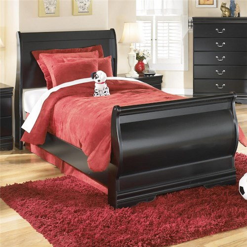 Signature Design by Ashley Huey Vineyard Twin Louis Philippe Sleigh Bed