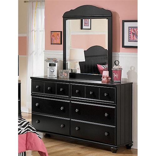 Signature Design by Ashley Jaidyn Six Drawer Youth Dresser and Mirror