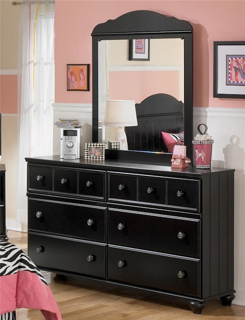 Signature Design by Ashley Jaidyn Six Drawer Youth Dresser and Mirror