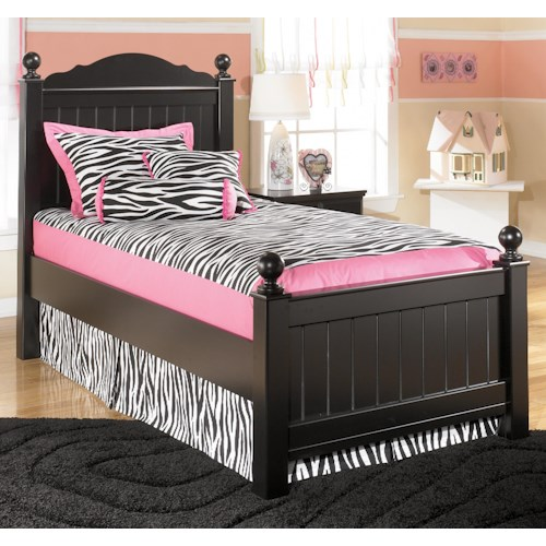 Signature Design by Ashley Jordan Twin Poster Headboard and Footboard Bed