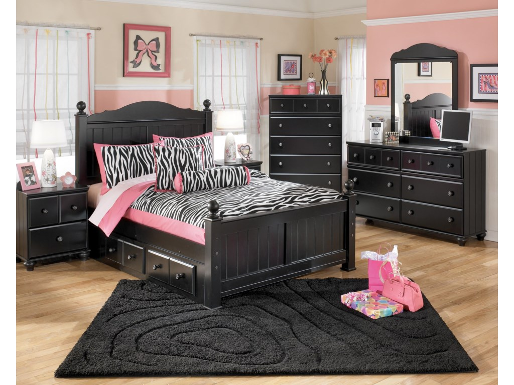Shown with Night Stand, Chest, Dresser, and Mirror
