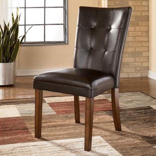 Signature Design by Ashley Lacey Faux Leather Tufted Upholstered Side Chair