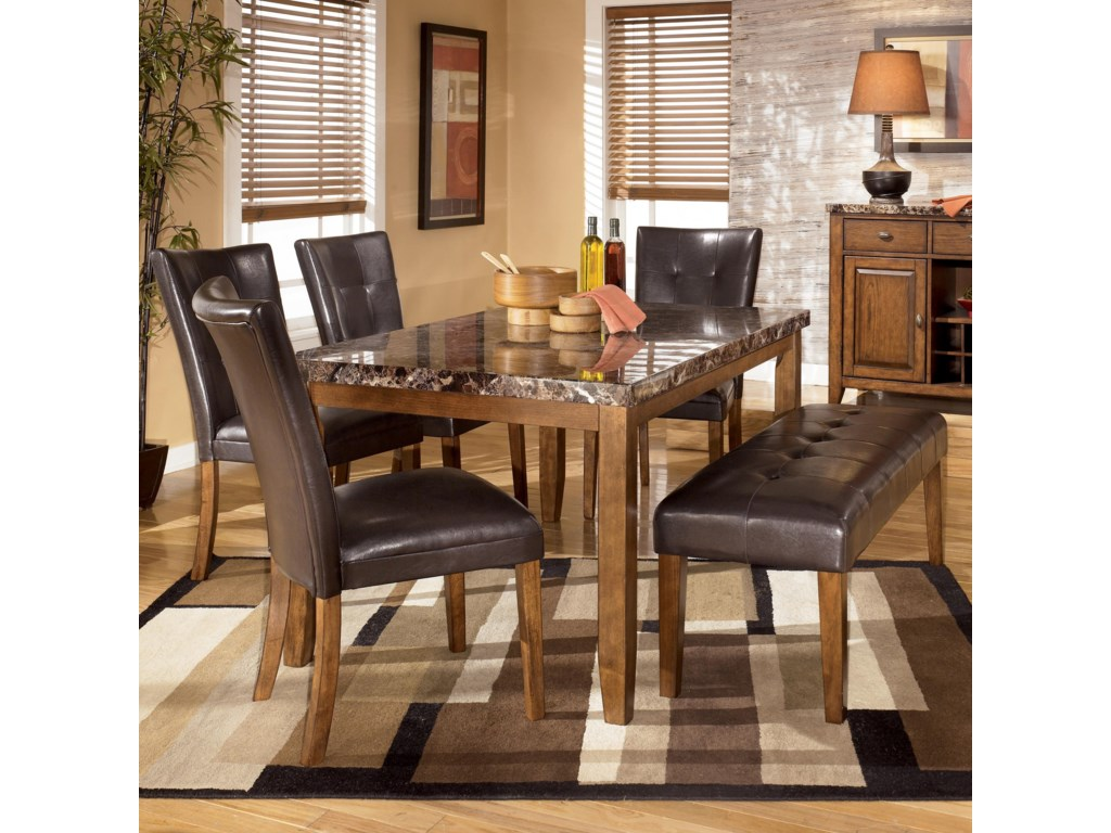 Signature Design By Ashley Lacey6 Piece Dining Table Chairs Bench Set