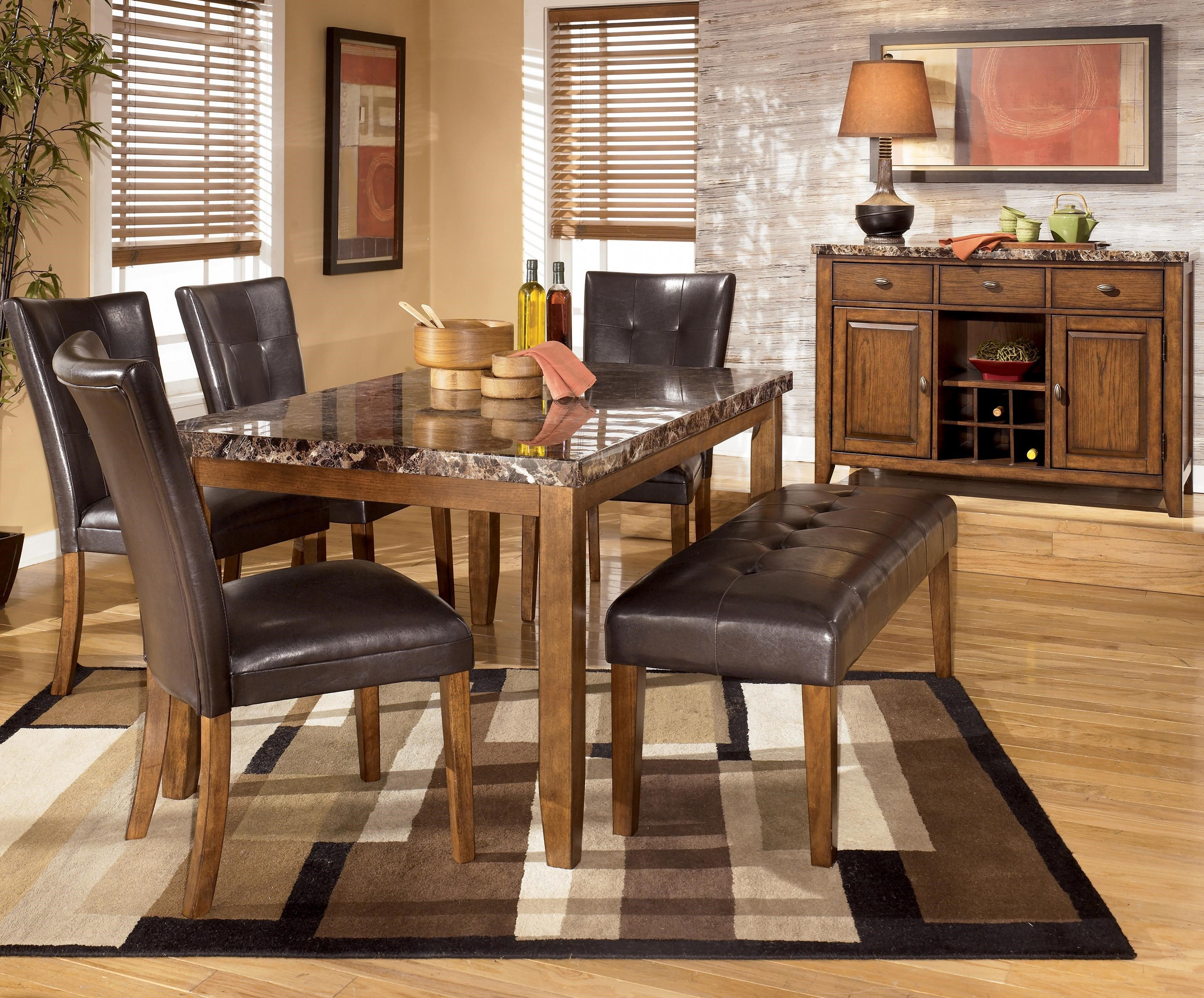 ... Signature Design by Ashley Lacey6-Piece Dining Table Chairs u0026 Bench Set & Signature Design by Ashley Lacey 6-Piece Dining Table with Side ...
