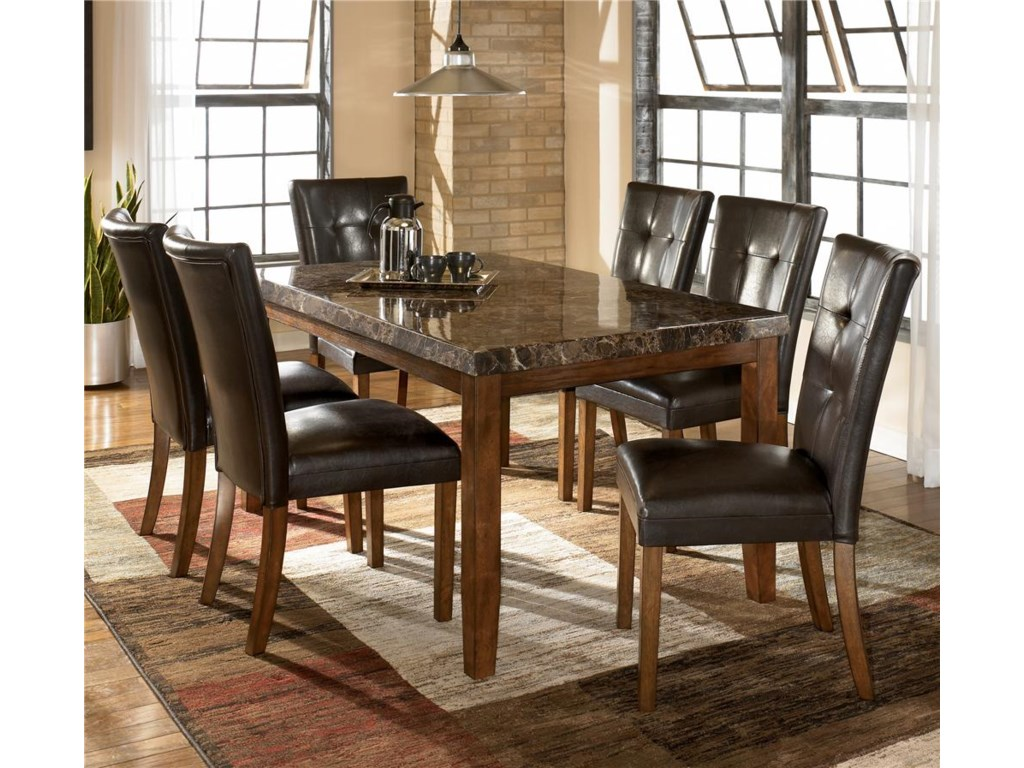 Signature Design By Ashley Lacey 7 Piece Dining Table Chair Set Royal Furniture Dining 7 Or More Piece Sets
