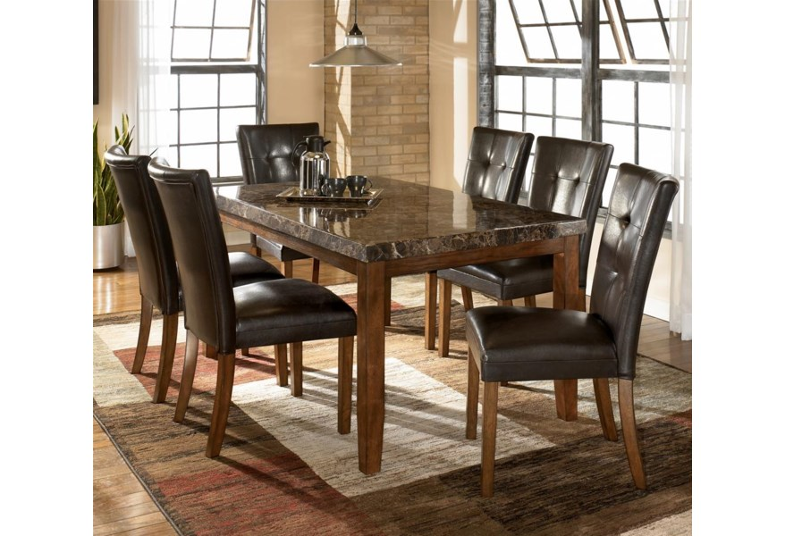 Ashley Signature Design Lacey 7 Piece Dining Table Chair Set Dunk Bright Furniture Dining 7 Or More Piece Sets