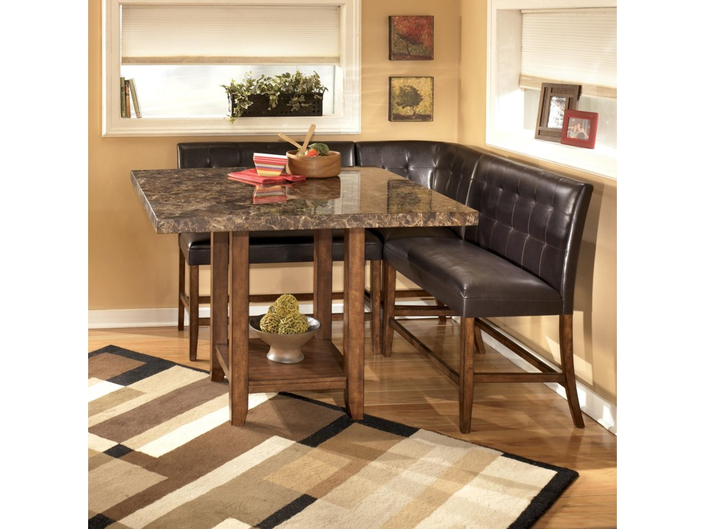 Shown with Square Table and Double Bar Stools