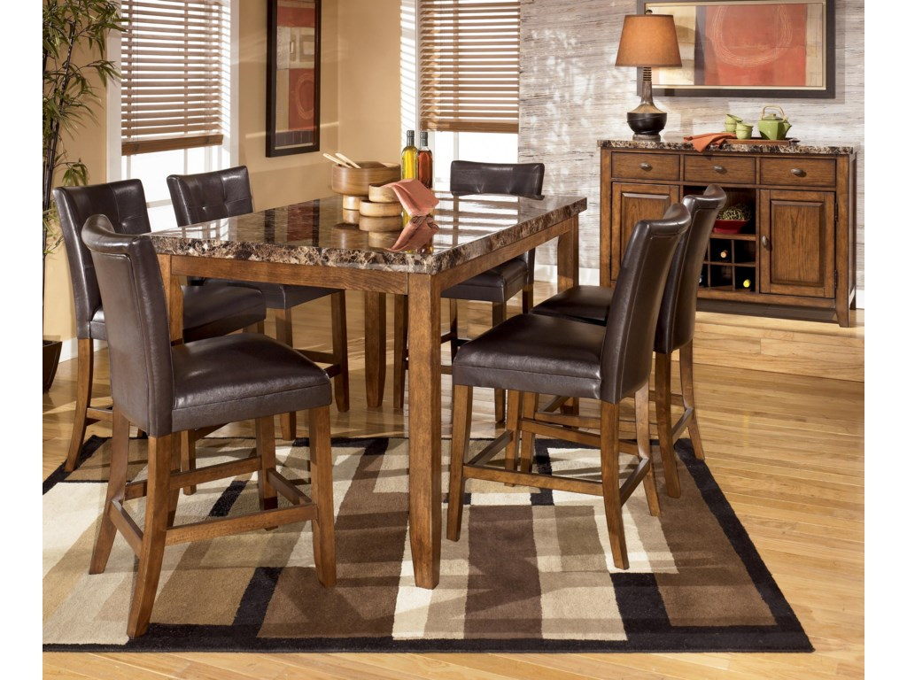 Shown with Rectangular Counter Height Table and Bar Stools
