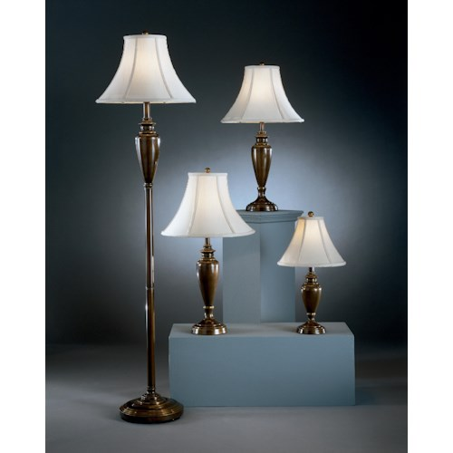 Signature Design by Ashley Lamps - Traditional Classics Caron Four Pack (1 Floor, 2 Table and 1 Accent Lamp)