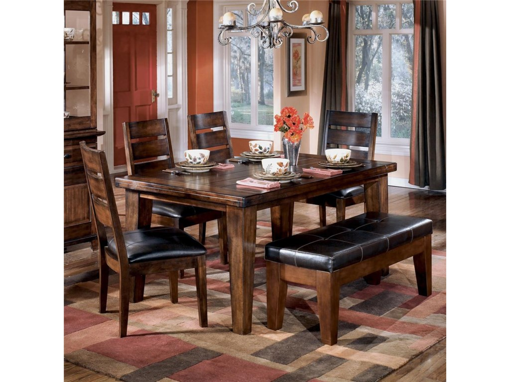 Shown With Bench and Rectangular Dining Table