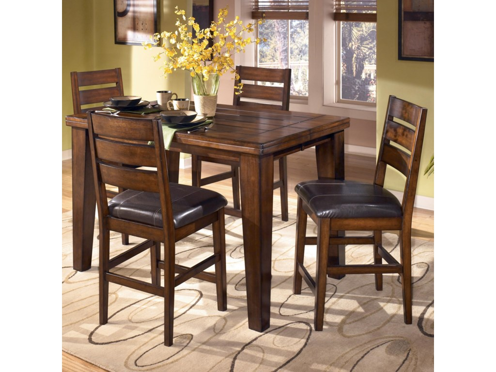 Signature Design by Ashley LarchmontPub Table and 4 Bar Stools