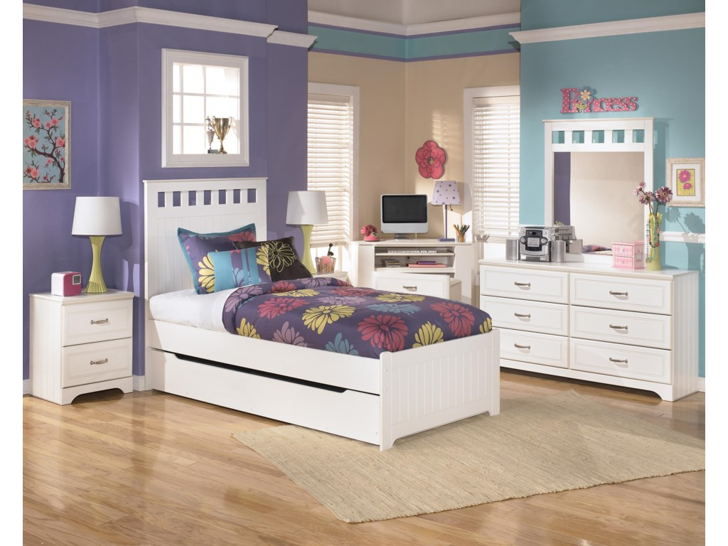Shown with Night Stand, Corner Desk Media Unit, Dresser, and Mirror