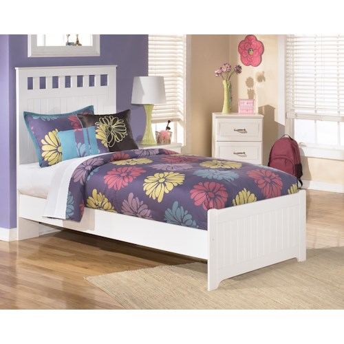 Signature Design by Ashley Lulu Twin Panel Headboard and Footboard Bed
