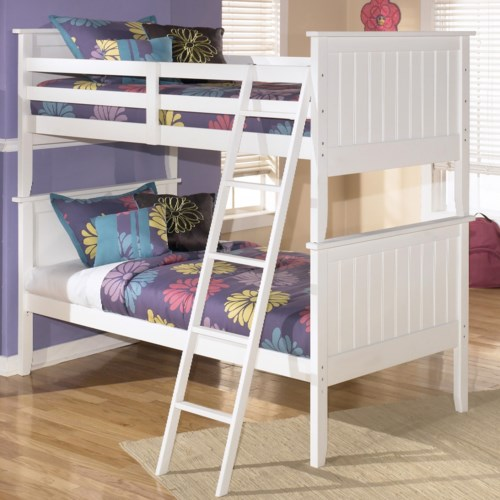 Signature Design By Ashley Lulu Twin Twin Bunk Bed Godby Home