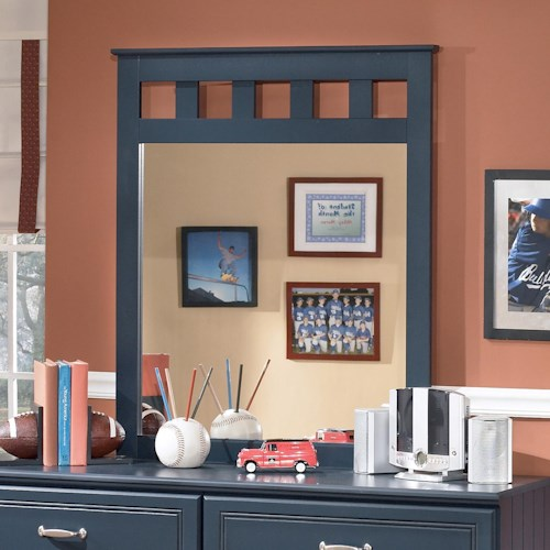 Signature Design by Ashley Leo Mirror with Slat Detailing