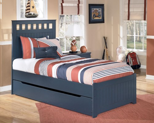 Signature Design by Ashley Leo Twin Bed with Storage/Trundle