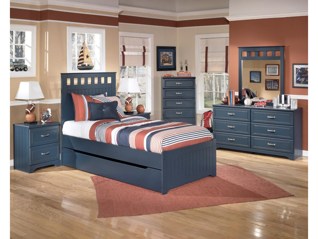 Shown with Night Stand, Bed, Chest, Dresser, and Mirror