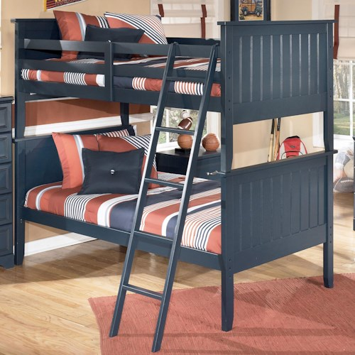 Signature Design By Ashley Leo Twin Twin Bunk Bed Westrich