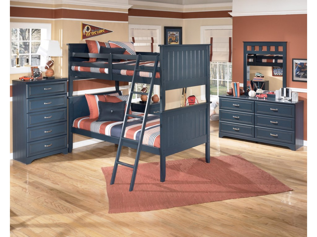 Shown with Chest, Night Stand, Dresser, and Mirror
