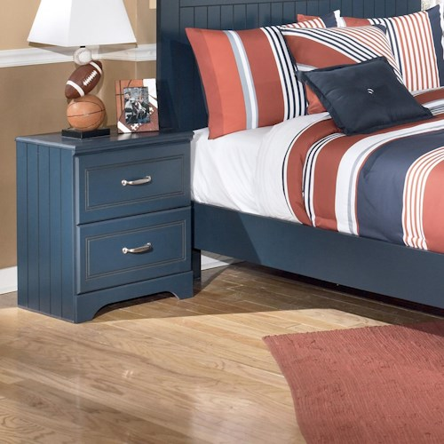 Signature Design by Ashley Leo 2 Drawer Night Stand