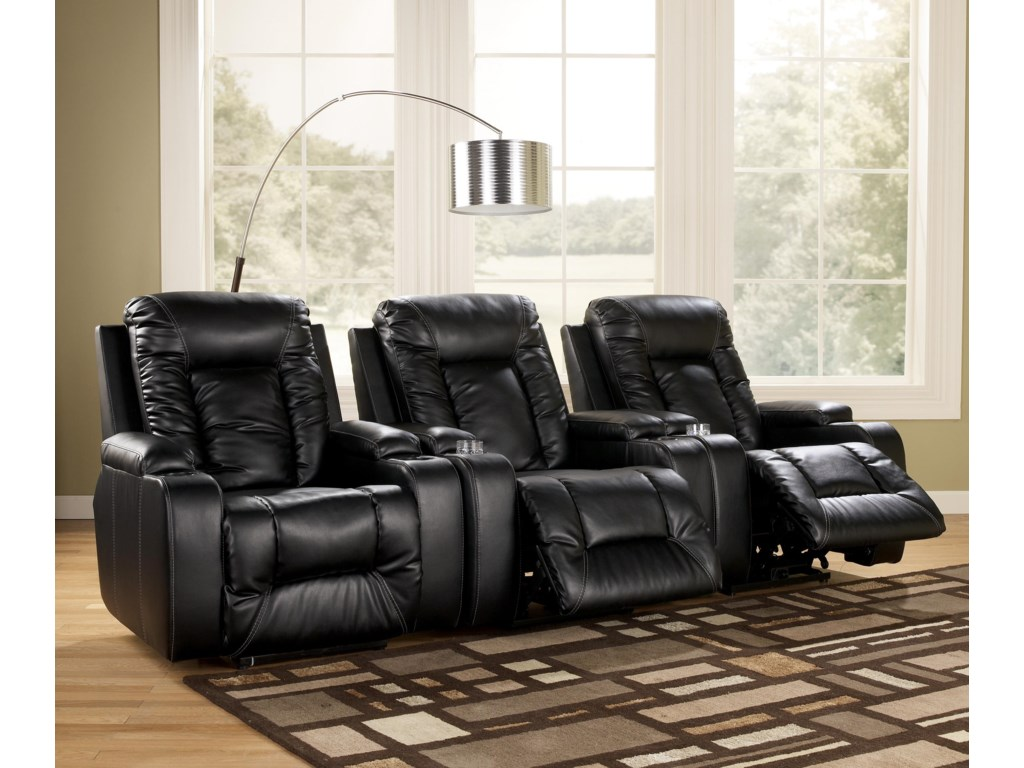 Signature Design by Ashley Matinee DuraBlend® - Eclipse3 Piece Theater Seating Group