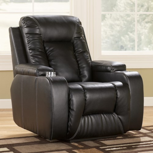 Signature Design by Ashley Matinee DuraBlend® - Eclipse Contemporary Zero Wall Recliner