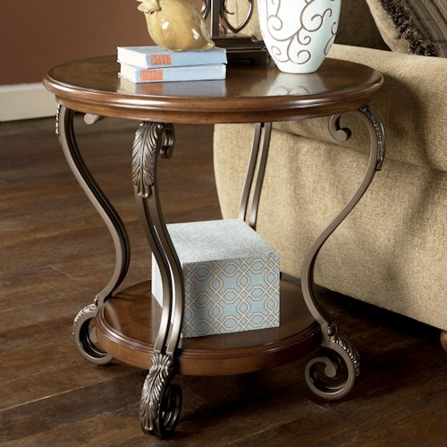 T517 0 Ashley Furniture Nestor: StyleLine LINDSAY T517-6 Round End Table