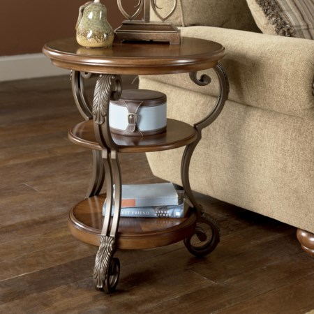 Round Chairside End Table