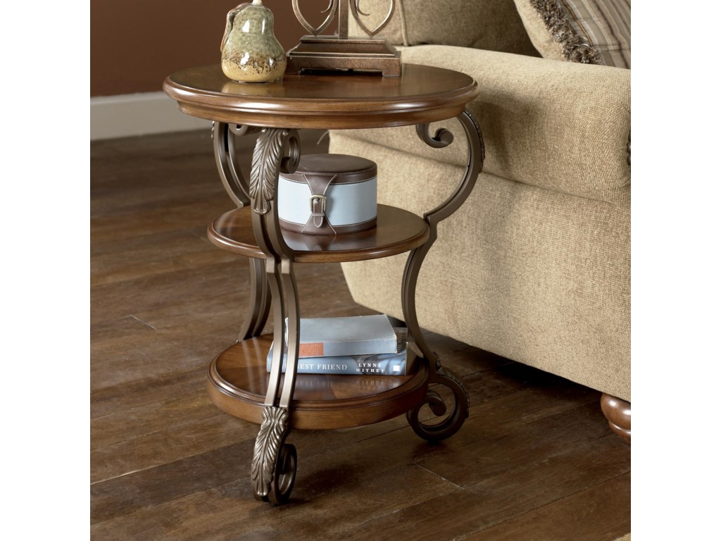 Ashley (Signature Design) NestorRound Chairside End Table